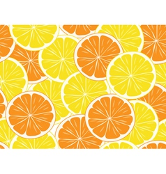 seamless orange and lemon slices vector image