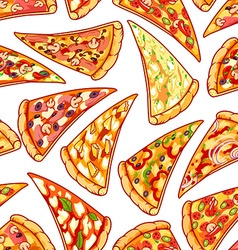 Seamless pattern with pizza clip art vector