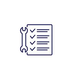 Service list line icon with a checklist vector
