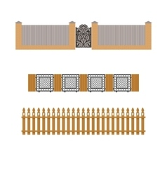 Set of different fences vector