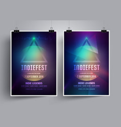 Set of mockup poster templates or flyers vector