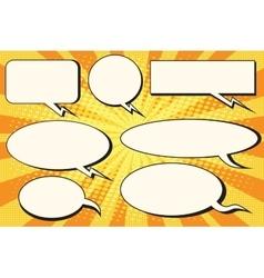 Set of pop art comic bubbles vector image