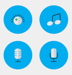 set of simple icons elements regulator music sign vector image