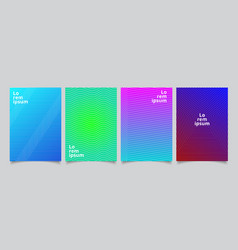 set template minimal covers design gradient vector image
