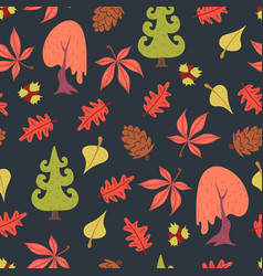 simple flat forest pattern vector image
