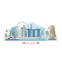 Singapore landmarks skyline vector