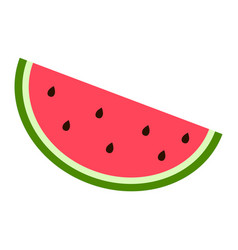 slice of watermelon icon flat style vector image