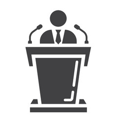 Speaker solid icon business and tribune vector