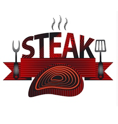Steak sign and logo vector