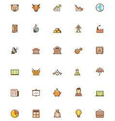 stock market icon set vector image