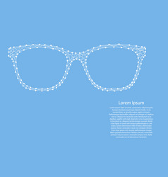 sunglasses goggles from abstract futuristic vector image
