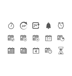 Time and Calendar Icons vector image
