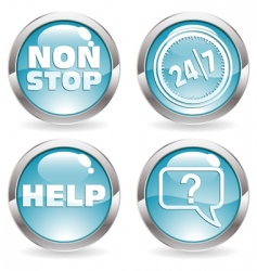 time buttons vector image