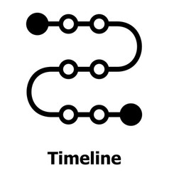 Timeline icon simple style vector