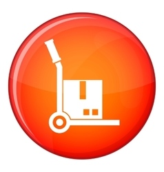 Truck with cargo icon flat style vector