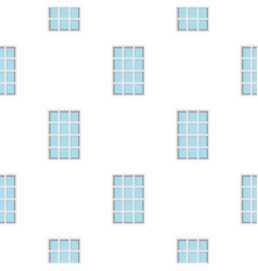 White latticed rectangle window pattern flat vector