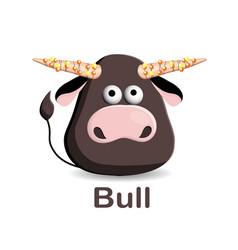 year bull 2021 new greeting card vector image