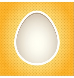 Yellow egg frame vector image vector image