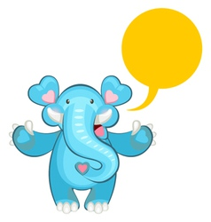 blue elephant welcoming vector image