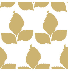 decorative seamless pattern with leaf vector image