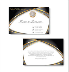 elegant business card design template 03 vector image
