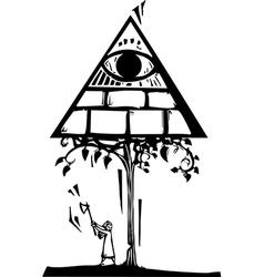 Masonic Tree vector image vector image