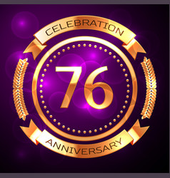 seventy six years anniversary celebration with vector image vector image