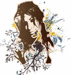 girl grunge design vector image