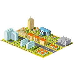 Isometric city Stock vector image vector image