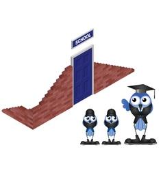 SCHOOL HOUSE vector image vector image