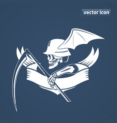 skeleton with spit vector image