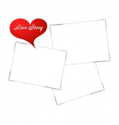 love photo frame vector image vector image