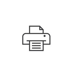 printer icon line style vector image