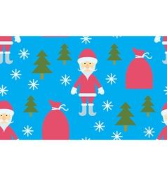 Seamless Santa Claus and gifts vector image vector image