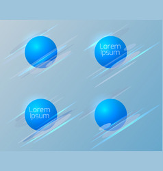 set of geometric circular banners vector image