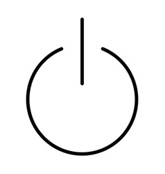 turn power on turn power off line icon vector image