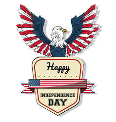 Usa independence day card with eagle vector