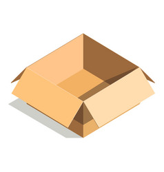 carton paper box or cardboard 3d post package vector image