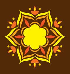 creative rangoli design vector image