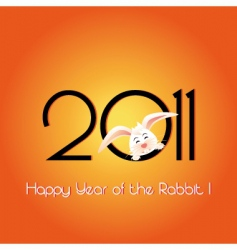 happy year of the rabbit vector image vector image