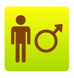 male sign brown icon at vector image