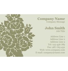 Victorian rose Damask Business Card vector image