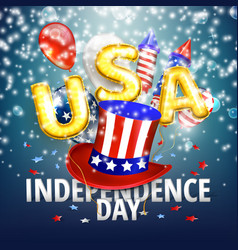 4th of july - independence day celebration vector image