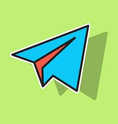 Aircraft button icon telegram icon vector