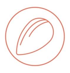 Almond line icon vector