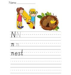 Alphabet worksheet vector