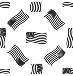 american flag icon seamless pattern flag of usa vector image