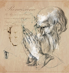 An hand drawn - renaissance vector