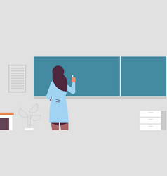 Arab female school teacher standing in front of vector