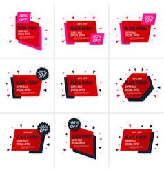 black friday sale label vector image